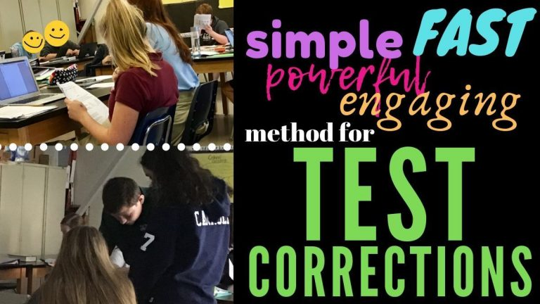 Best Way to do Test Corrections: Simple & Engaging